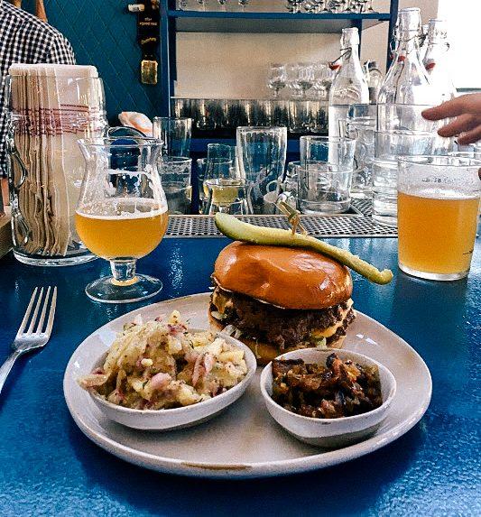 Wursthall San Mateo burger