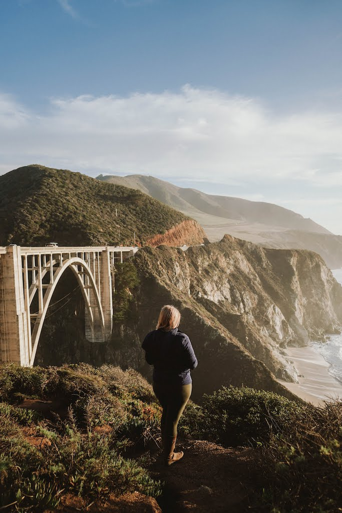 Golden hour and sunset at Bixby Bridge, a short drive from Carmel