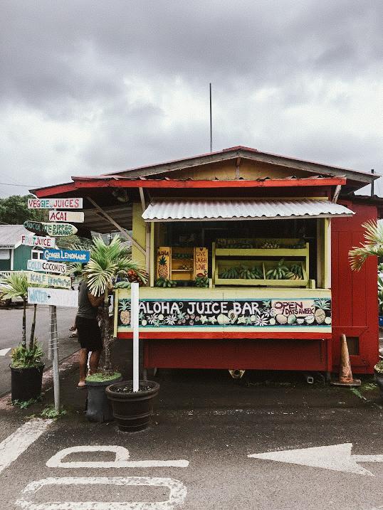 aloha juice bar, hanalei