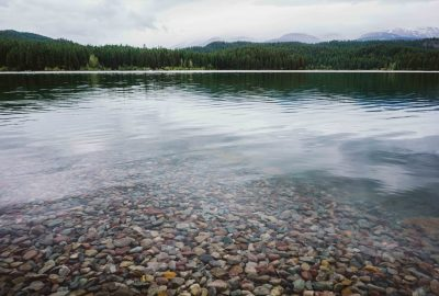 Clear lake in Whitefish, Montana