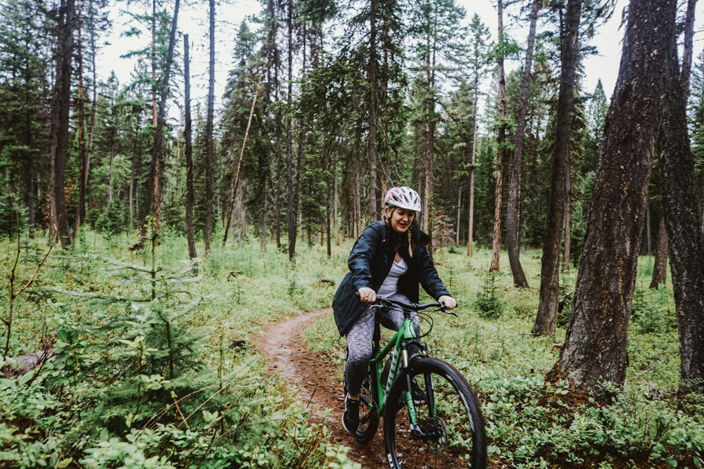 Mountain Biking on Whitefish Trail