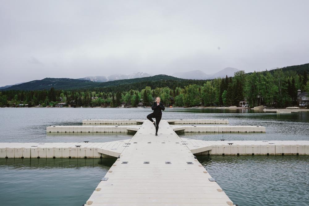Yoga in Whitefish on lake