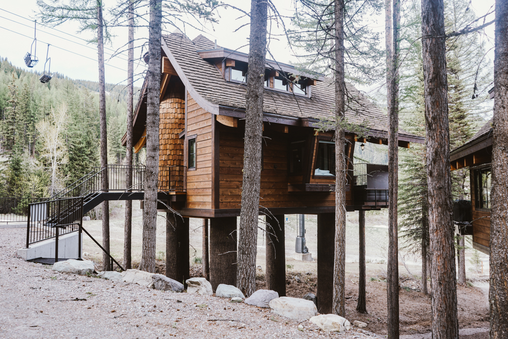 treehouse in Whitefish MT Snow Bear Chalets
