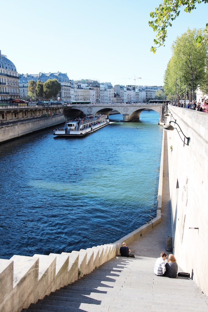 walking along the Seine
